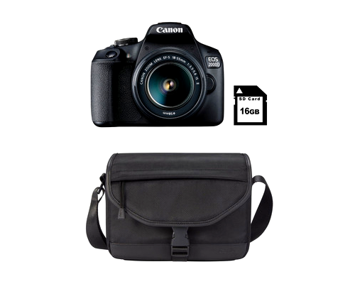 Canon 2000D DSLR Camera Starter Bundle